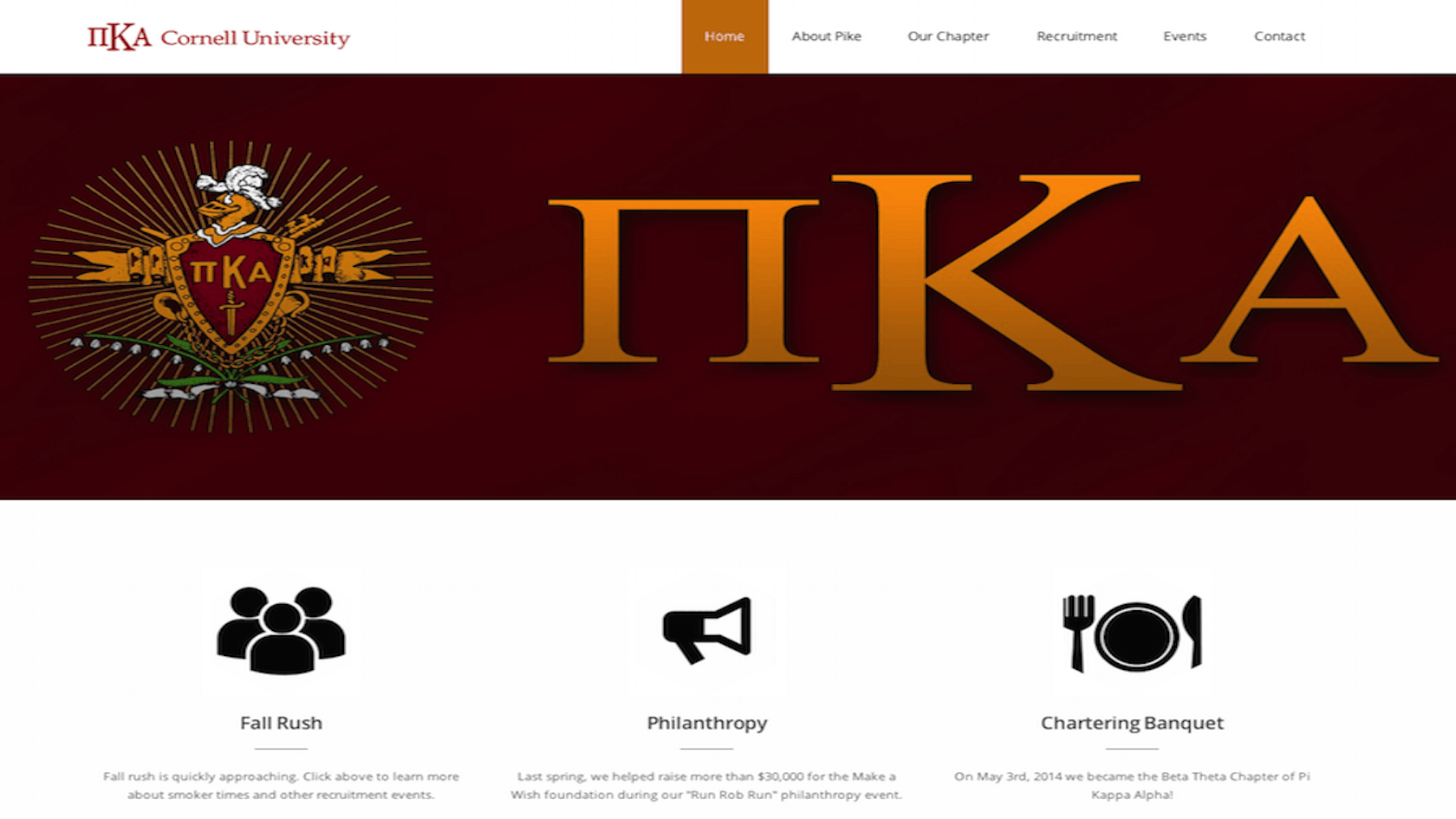 Cornell Pi Kappa Alpha Website