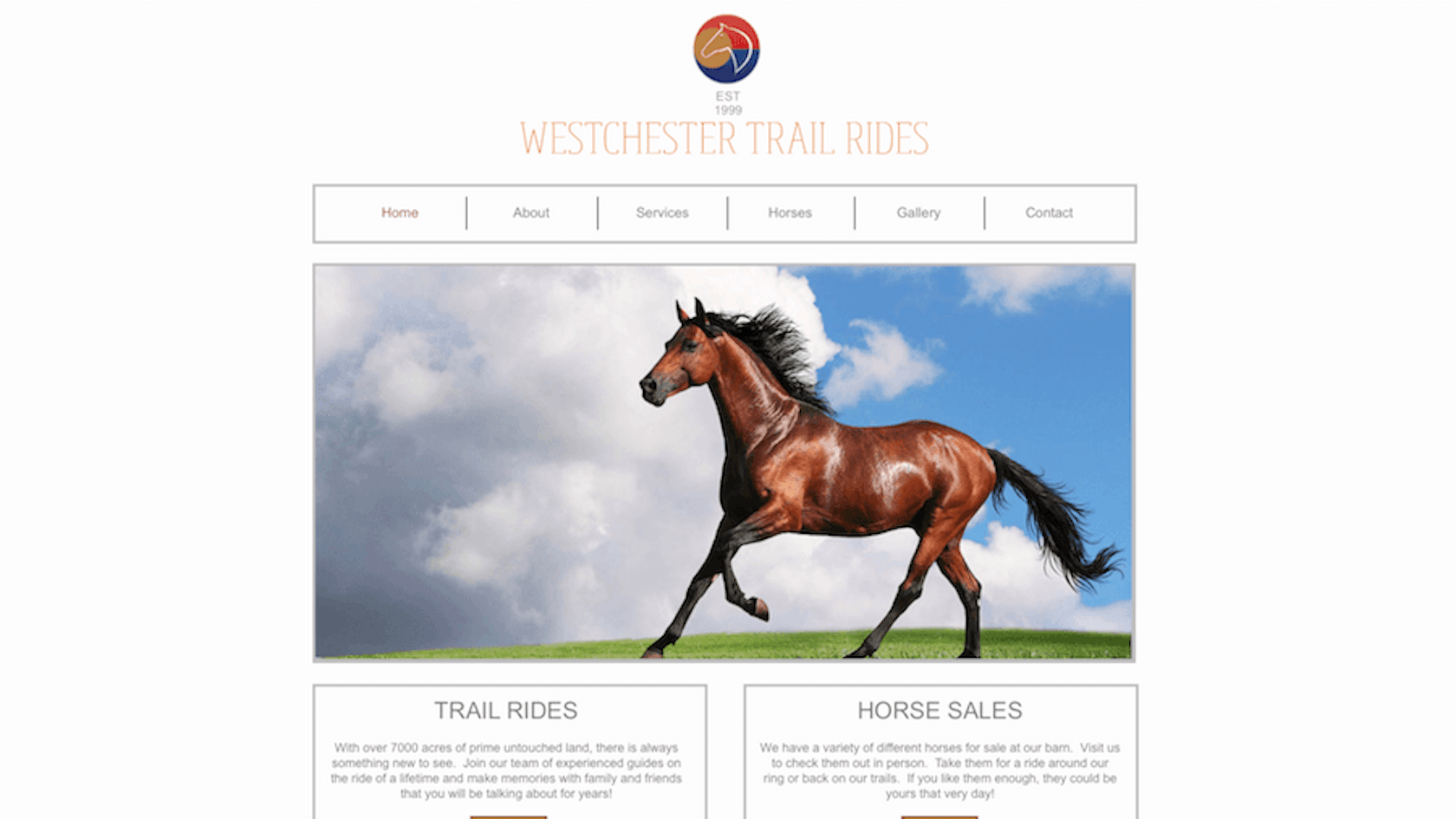 Westchester Trail Rides Website